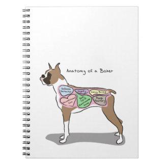 Cuaderno Anatomía de los regalos de un perro del boxeador