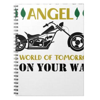 Cuaderno Ángel de la motocicleta