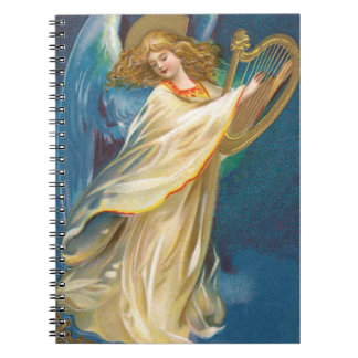 Cuaderno Ángel que toca la arpa