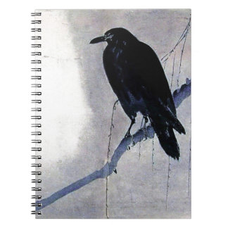 Cuaderno Antigüedad negra del pájaro del cuervo