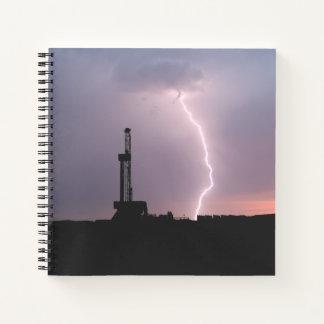 Cuaderno Aparejo de la perforación petrolífera, relámpago,