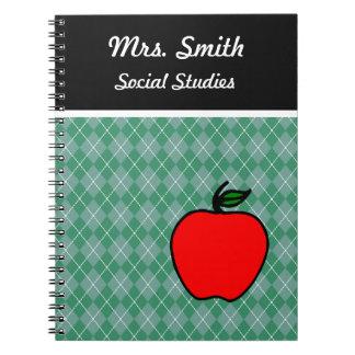 Cuaderno Apple del profesor de encargo clasifica el regalo