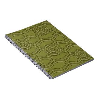 Cuaderno Arbusto aborigen del arte