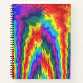 Cuaderno Arco iris llameante