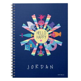 Cuaderno Arco iris Sun del paquete del bocado de los