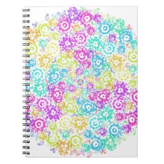 Cuaderno Arreglo colorido floral