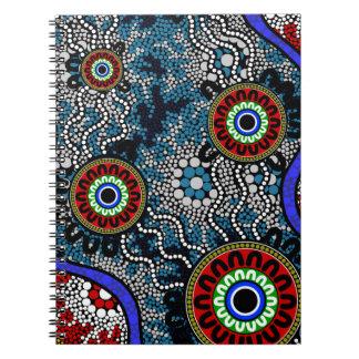 Cuaderno Arte aborigen - acampando