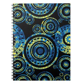 Cuaderno Arte aborigen auténtico - diseño de Paisley