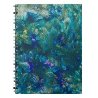 Cuaderno Arte azul de la pintura del Watercolour
