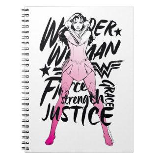 Cuaderno Arte de la tipografía del cepillo de la Mujer