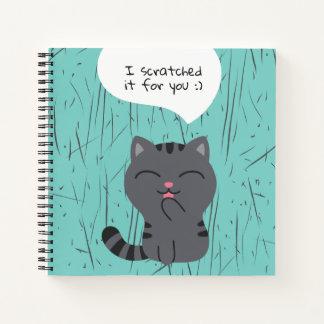 Cuaderno Arte de rasguñar el ilustracion
