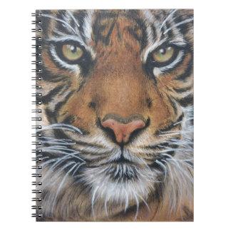 Cuaderno Arte del animal de la fauna del tigre