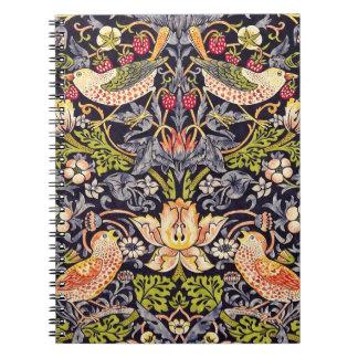 Cuaderno Arte floral Nouveau del ladrón de la fresa de