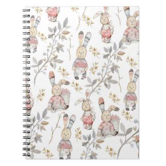Cuaderno Arte lindo del estampado de flores de la acuarela