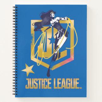 Cuaderno Arte pop del logotipo de la Mujer Maravilla JL de