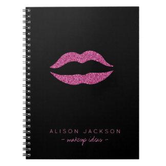 Cuaderno Artista de maquillaje atractivo de los falsos