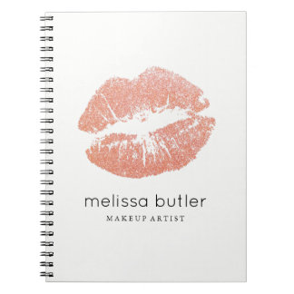 Cuaderno Artista de maquillaje color de rosa elegante de
