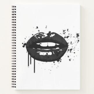 Cuaderno Artista de maquillaje elegante del beso de la moda