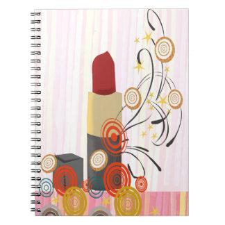 Cuaderno Artista de maquillaje travieso del Cosmetologist