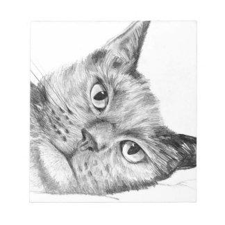 Cuaderno artístico precioso del dibujo de lápiz de
