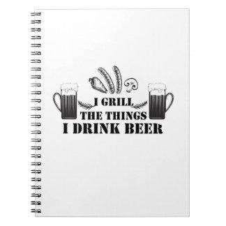 Cuaderno Aso a la parrilla las cosas que bebo a la familia