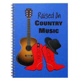 Cuaderno Aumentado en la vaquera fresca de la música