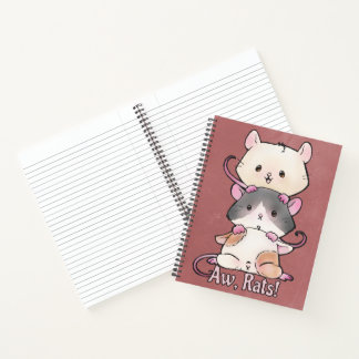 Cuaderno ¡Aw, ratas!