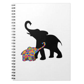 Cuaderno Ayuda de la conciencia del autismo del elefante