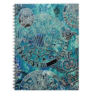 Cuaderno azteca de la foto de los azules (80