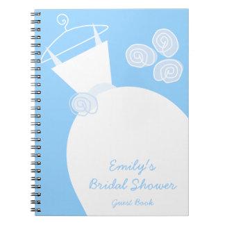 """Cuaderno azul de la """"ducha nupcial"""" del vestido de"""