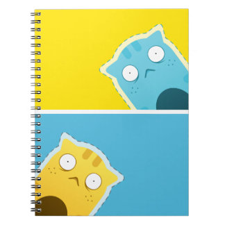 Cuaderno azul del gato del jengibre (80 páginas