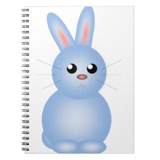 Cuaderno Azul feliz Bunnise de Pascua