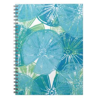 Cuaderno Azules del cojín de lirio