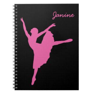 Cuaderno Bailarín de ballet rosado