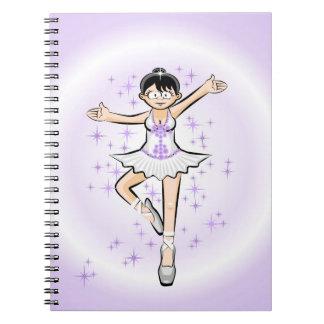 Cuaderno Bailarina de Ballet niña baila con glamour