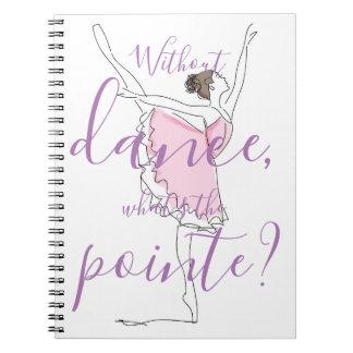 Cuaderno ¿Bailarina //sin danza cuál es el pointe?