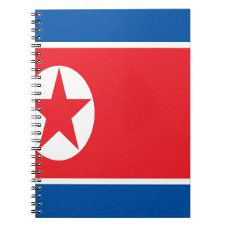Cuaderno ¡Bajo costo! Bandera de Corea del Norte