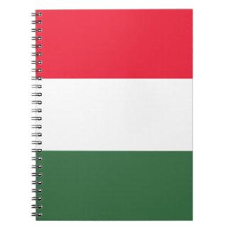 Cuaderno ¡Bajo costo! Bandera de Hungría