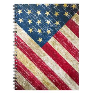 Cuaderno Bandera americana del Grunge