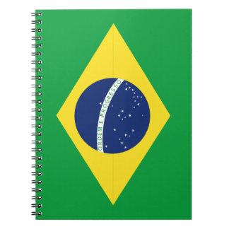 Cuaderno Bandera brasileña