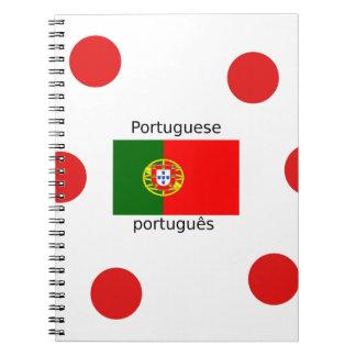 Cuaderno Bandera de Portugal y diseño portugués de la