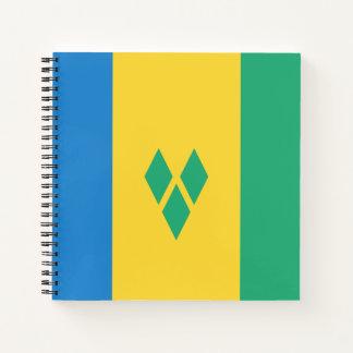 Cuaderno Bandera de San Vicente y las Granadinas