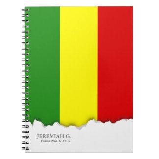 Cuaderno Bandera del orgullo de Rastafarian