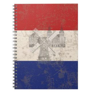 Cuaderno Bandera y símbolos de los Países Bajos ID151