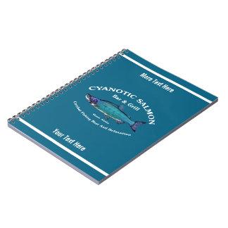 Cuaderno Barra y parrilla de color salmón cianóticas