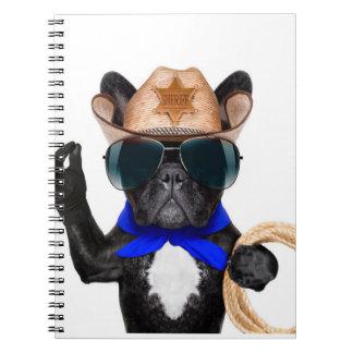 Cuaderno barro amasado del vaquero - vaquero del perro