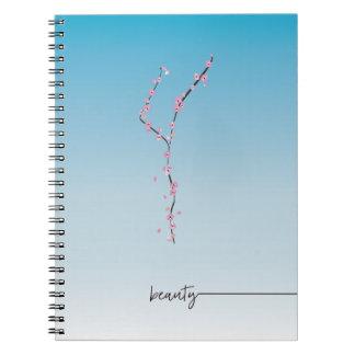Cuaderno belleza del _del _del diario del espiral de la