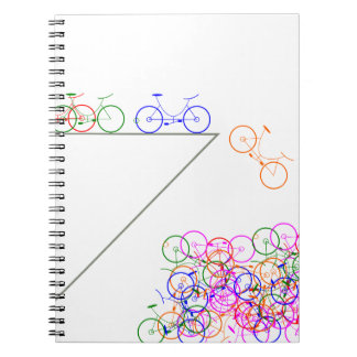 Cuaderno Bike falling off a cliff
