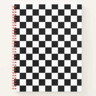 Cuaderno Blanco a cuadros clásico del negro del control del