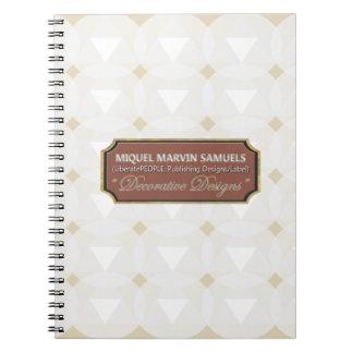Cuaderno blanco decorativo del círculo del